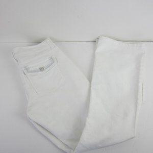 WHBM Noir Bootcut Jeans White Women's 4S